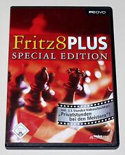 Fritz 8 PLUS SPECIAL EDITION-programma di scacchi per PC Chess simulatore come nuovo
