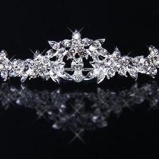 Princess Prom Flower Crystal Crown Bridal Headband Tiara Wedding Headpiece