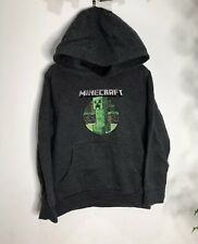 Minecraft Boy's Hooded Jacket Jumper Sweater Grey 6-7 Years Old
