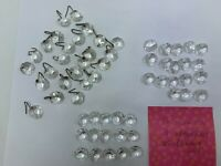 Lot of 58 piece single chain octagon crystal prisms chandelier Vtg parts 5/8""