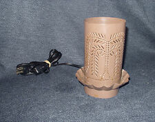 Primitive Country Look Pierced Tin Willow Tree Electric Candle Warmer Light VGUC