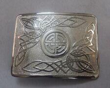 SH Scottish Kilt Belt Buckle Swirl Celtic Knot Chrome Finish/Highland Buckles