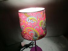 """Purple Psychedelic 14.5"""" Stick Table Lamp - New Never Used - NR"""