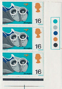 """Great Britain 1967 Discoveries/Inventions block of 1/6 """"Jet Engine"""" stamps - MNH"""