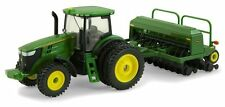 John Deere 7215 R Cab Tractor With 1590 Grain Drill  1:64   Ertl 2014  New Sale!