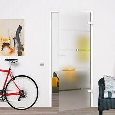 Zimmertür Glastür Ganzglastür Siebdruck DIN Links 834x1972 P1-834SSL