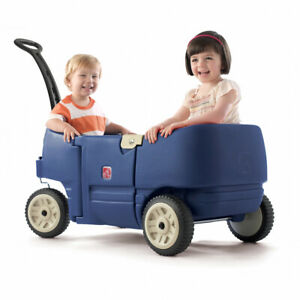 Wagon For Two Plus Blue Denim | Kids Childrens Toddler Ride On Wagon NEW