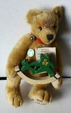 New ListingHermann Teddy Bear Golden Mohair Limited Edition 80 Years w-Green Logo European