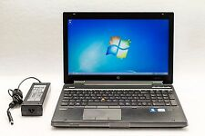 HP EliteBook 8570w Core i7-3820QM 2.7GHz 16GB No HDD K2000m 1080p Gaming Laptop