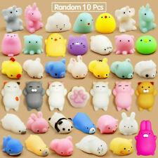 10 Pcs Cute Animal Squishies Kawaii Mochi Squeeze Toys Stretch Stress Squishy