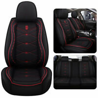 Auto Car Seat Cover Mesh Leather Universal Cushion W/Pillows Protector Full Set