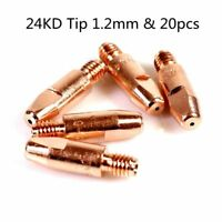 50pcs 1.0mm Nozzle Tips 140.0245 for 24KD Binzel Abicor Style MIG Weld Torch