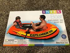 Intex Explorer 200 Inflatable Boat Raft Set 2 Oars Pump 2 Person New In Box