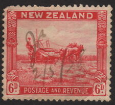 1935 New Zealand, 6p, Used, Harvesting, Sc 193, Sg 564, Pen cancel