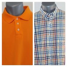 2 Men's Short Sleeve Shirts Polo Magellan and Dockers Large L Great condition
