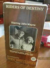 Riders Of Destiny VHS John Wayne Cecillia Parker Gabby Hayes Forrest Taylor