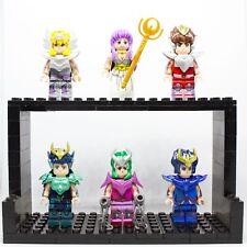 LEGO MINIFIGURES 6 PZ SAINT SEIYA CAVALIERI DELLO ZODIACO CUSTOM LIKE