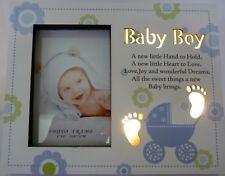 BABY BOY LED LIGHT UP PHOTO FRAME NIGHT LIGHT CHRISTENING BABY SHOWER GIFT BNIB