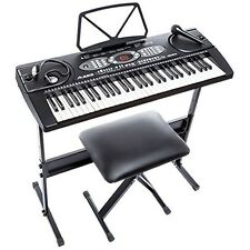 Alesis Melody 61-Key Portable Keyboard Bundle + Stand, Bench, Headphones, Mic