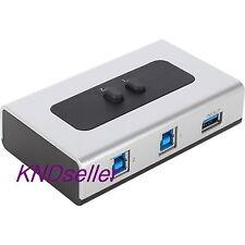 2 Port USB 3.0 High Quality Manual Sharing Switch BOX 2WAY Printer Scanner HDD