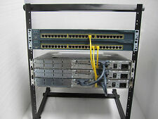 "Cisco CCNA CCENT Lab Kit 3x2650 2x3560-24 ICND  CCNA3  Free 12U 19"" Rack"