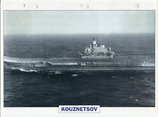 PHOTO BATEAU MILITAIRE 1985 RUSSIE  KOUZNETSOV PORTE AERONEFS LOURD