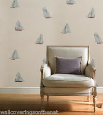 """Sailing Ship"" Solid Vinyl Wallpaper With A Slight Texture by Casadeco 15186117"