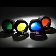 Spiderfire 4 Color Filter Set Fit for UltraFire 501B Surefire 6P 9P G2 C2