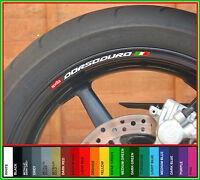8 x Aprilia Dorsoduro Wheel Rim Decals Stickers - 750 smv 1200 moto motorcycle