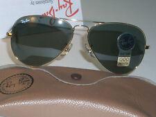62mm Vintage Bausch & Lomb Ray Ban L2846 G15 Vergoldet Aviator Sonnenbrille