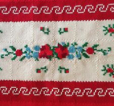 """Winter Style Throw, Lap Warmer, Toddler Blanket~Reds, Greens 63"""" x 45"""""""