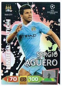 SERGIO AGUERO Limited Edition Panini Adrenalyn XL Champions League 2011-12 Card