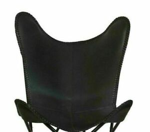 Handmade Leather Butterfly Chair Home Decor Replacement Chairs Black Leather Co