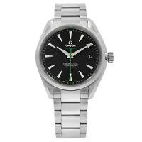 Omega Seamaster Aqua Terra Steel Black Dial GreenHand Watch 231.10.42.21.01.004