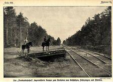 """1915 * """"Bundesbahnhof"""" Improvisierte Rampe zum Verladen in Galizien *  WW1"""