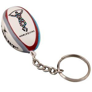 Gilbert Harlequins Rugby Ball Keyring