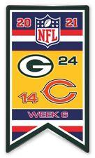 2021 Semaine 6 Bannière Broche NFL Vert Bay Vs.Chicago Bears Super Bol Relié