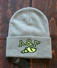 MENS ABERCROMBIE & FITCH GRAY BEANIE HAT ONE SIZE