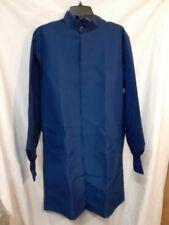Medline Unisex Asep Barrier Lab Coat Navy Blue Long Sleeves Button S New