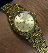 Gruen Precision Diamond very washed gold tone unisex WATCH fresh batt 9/20 A20