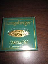 New Longaberger Collectors Club 5 Year Member Lapel Pin