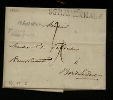 Netherlands  , Scravenhage  stampless letter  1822       MS0612