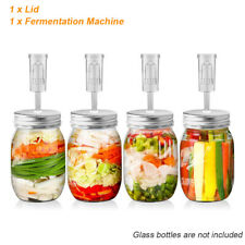 Home Fermenting Screw Lid w/Airlocks Fermentation for Wide Mouth Mason Jar