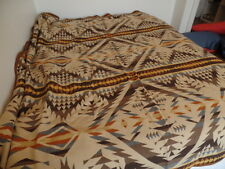 Pendleton Wool Blanket Native American Inspired Queen 90 x 90 Browns