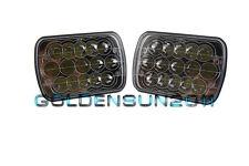 "Pair 7""x6"" LED Cree Light Bulbs H4 Crystal Clear Sealed Beam Headlamp Headlight"