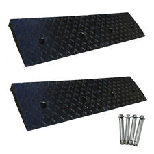 2x 1m Rubber Wheelchair Access Ramp 50mmH Driveway Ramps Kerb Ramp w/ Fixings