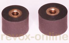 2 Caoutchouc-épreuve papier rouleaux, 8.0mm et 8.5mm pour revox studer a710, 2 pinch roller