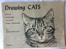 Vintage 1948 Drawing Cats Book by Gladys Emerson Cook - Pitman Publishing