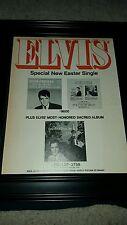 Elvis Presley Easter Single We Call On Him Rare Promo Poster Ad Framed!