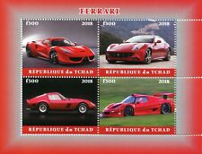 Chad 2018 CTO Ferrari 4v M/S Transport Cars Stamps